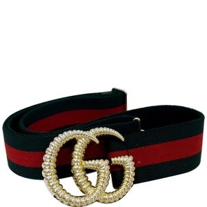 GUCCI WEB ELASTIC WITH TORCHON DOUBLE G BUCKLE